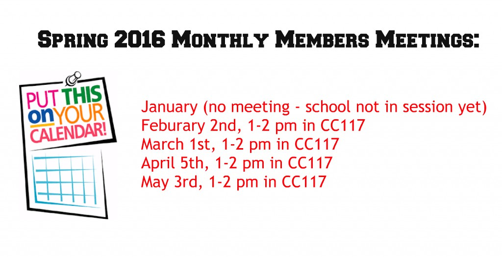 Spring Meeting Times
